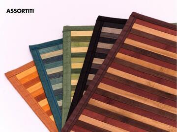 Tovaglietta per colazione America, 30x45 cm, in bamboo. Disponibile in vari colori assortiti.