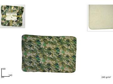 Caldo e morbido plaid militare in pelliccia, 100x140 cm.