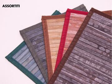 Tappeto Tully, 50x80 cm, in bamboo. Disponibile in vari colori assortiti.