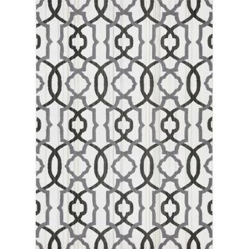 Tappeto moderno Carter mosaico Bianco 57 X 90