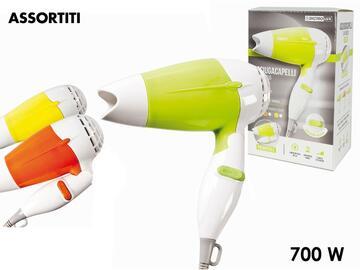 Phon pieghevole, 700W, disponibile in colori assortiti.