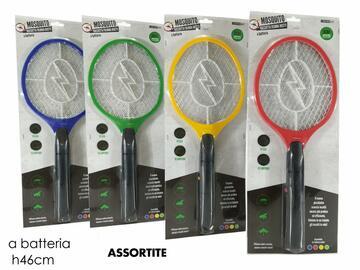Racchetta fulmina insetti, a batterie. Disponibile in colori assortiti.