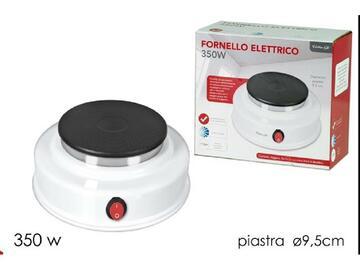 Fornello elettrico color bianco, 350W.