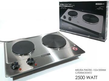 Fornello elettrico Steel Cook One, 2500W, in acciaio.