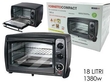 Fornetto Compact, 1380W, color nero.