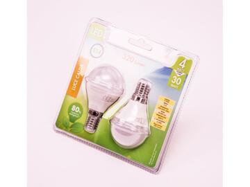 2 Lampadine LED G45 4W E14 a luce calda