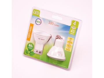 2 Lampadine LED GU10 4W a luce calda