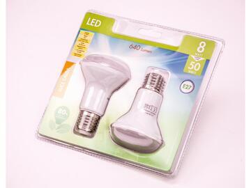 2 Lampadine LED R50 8W E27 a luce calda