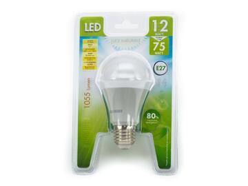 Lampadina LED A60 E27 a luce naturale