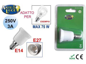 Adattatore lampadine E14/E27