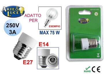 Adattatore lampadine E27/E14