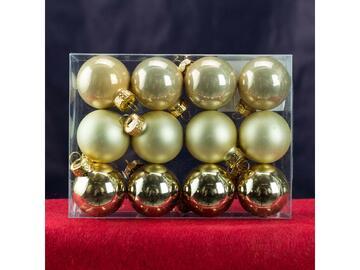 12 sfere 3 cm champagne