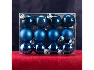 12 sfere 4 cm blu