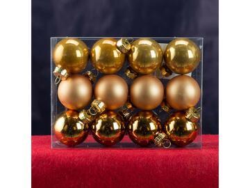 12 sfere 4 cm oro