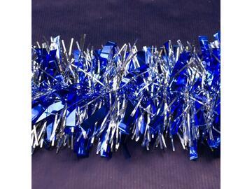 Filo 10x200 cm colore blu + argento mix