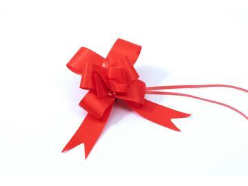 10 fiocchi rossi 2,8x47 cm