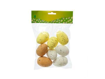 8 Uova di Pasqua decorative in polistirolo colorate natural, 6 cm