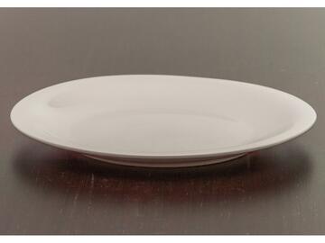 Piatto piano bianco in porcellana, 26 cm.