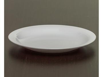 Piatto piano pesante bianco, 23 cm, in melamina.