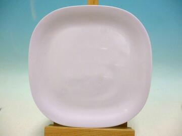 Piatto piano bianco, 20 cm, in melamina.
