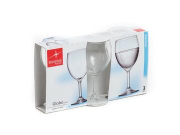 3 Calici Globo da acqua, in vetro.