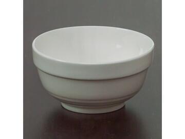 Coppetta bianca in porcellana, con diametro da 11 cm.