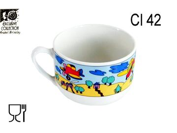 Tazza da latte in ceramica da 42 cl con decorazione...