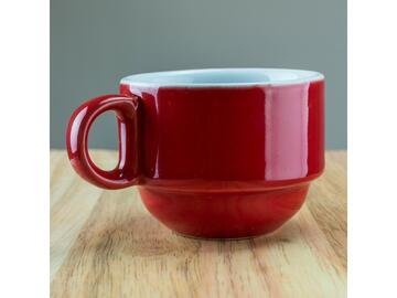 Confezione da 6 tazzine da caffe, color rosso.