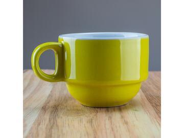 Confezione da 6 tazzine da caffe, color giallo.