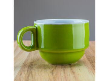 Confezione da 6 tazzine da caffe, color verde.