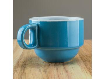 Confezione da 6 tazzine da caffe, color celeste.