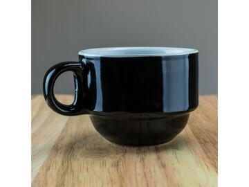 Confezione da 6 tazzine da caffe, color nero.
