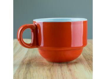 Confezione da 6 tazzine da caffe, color arancione.