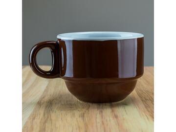 Confezione da 6 tazzine da caffe, color marrone.