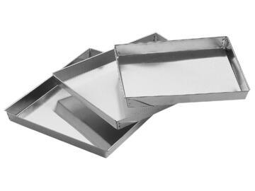 Set di tre teglie rettangolari da forno