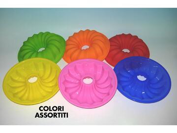 Stampo per budino in silicone, 25 cm. Disponibile in colori assortiti.