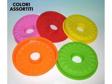 Stampo per ciambella in silicone, 26x4,5 cm. Disponibile in colori assortiti.