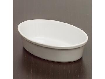 Pirofila ovale, in porcellana, 23 cm.