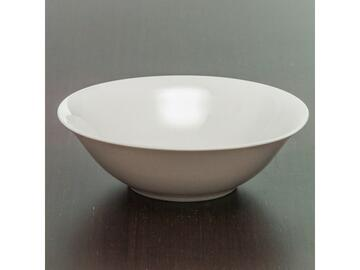Insalatiera in porcellana bianca, 23 cm.