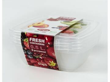 3 Fresh Container Quadro 0,50lt made in Italy