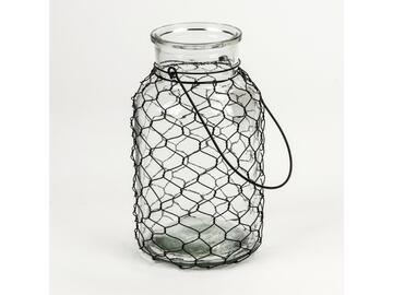 Lanterna in vetro, Net, 17 x 30 cm