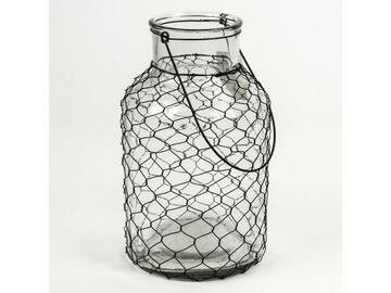 Lanterna in vetro, Net, 14 x 25,5 cm