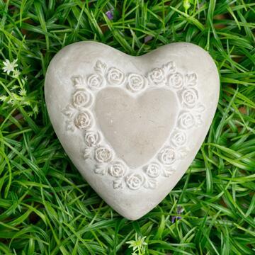 Cuore decorativo Stone, 16,5 cm.