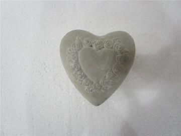 Cuore decorativo Stone, 13 cm.