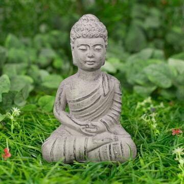Budda seduto Stone,15,5 cm.