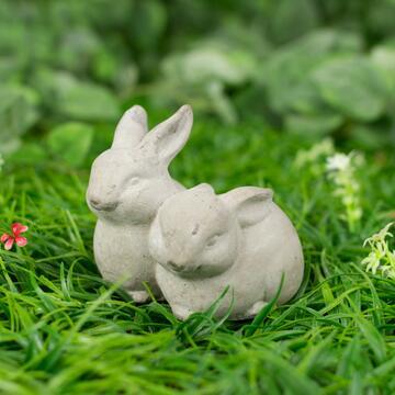 Coppia coniglietti Stone, 13 cm.