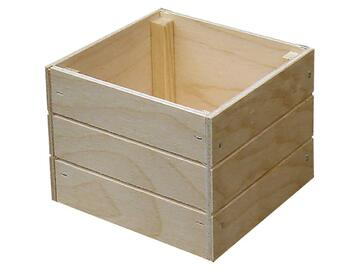Box medio portatutto, in legno 18x18x10 cm.