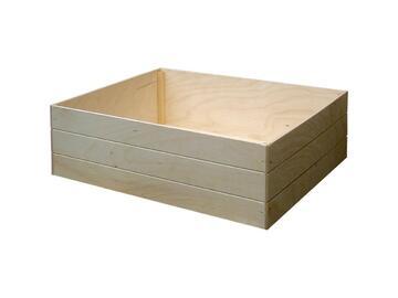 Box alto portatutto, in legno 16x24x12 cm.