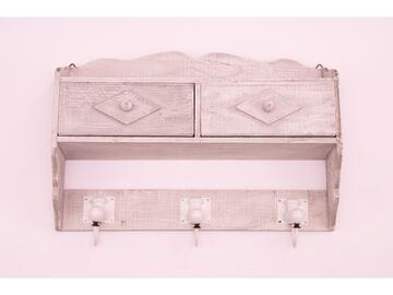 Appendino 3 posti Maki in legno 2 cassetti