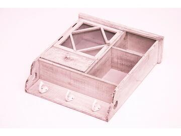 Appendino 3 posti Testy in legno con anta, cassetto e ripiano interno